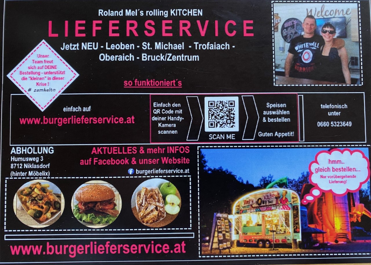 Burgerlieferservice Roland Mel´s rolling Kitchen